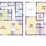 新潟市中央区高志の新築住宅の2号棟間取図