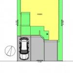 中央区網川原1丁目の土地の建物プラン例の配置図【区画2】