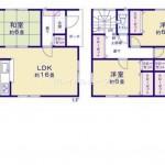 秋葉区金沢町の新築住宅2号棟の間取図