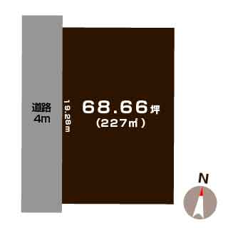 新潟市秋葉区荻島の【土地】不動産情報の敷地図