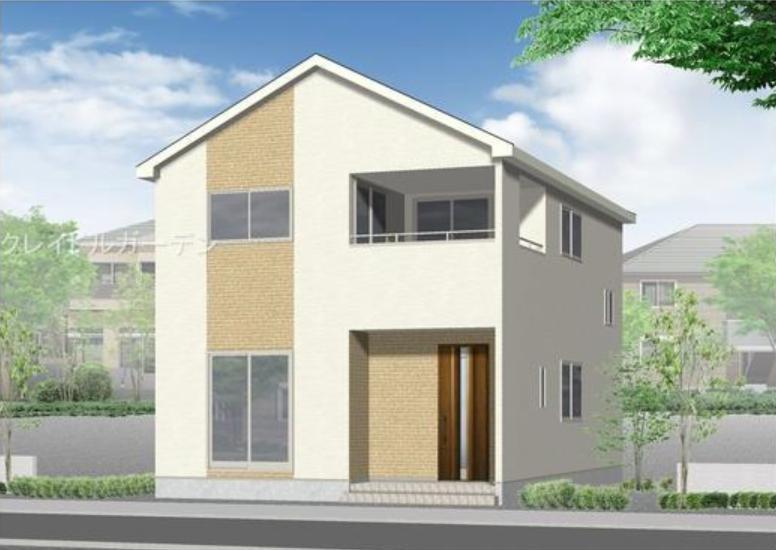 秋葉区金沢町の新築住宅1号棟の外観完成予定パース