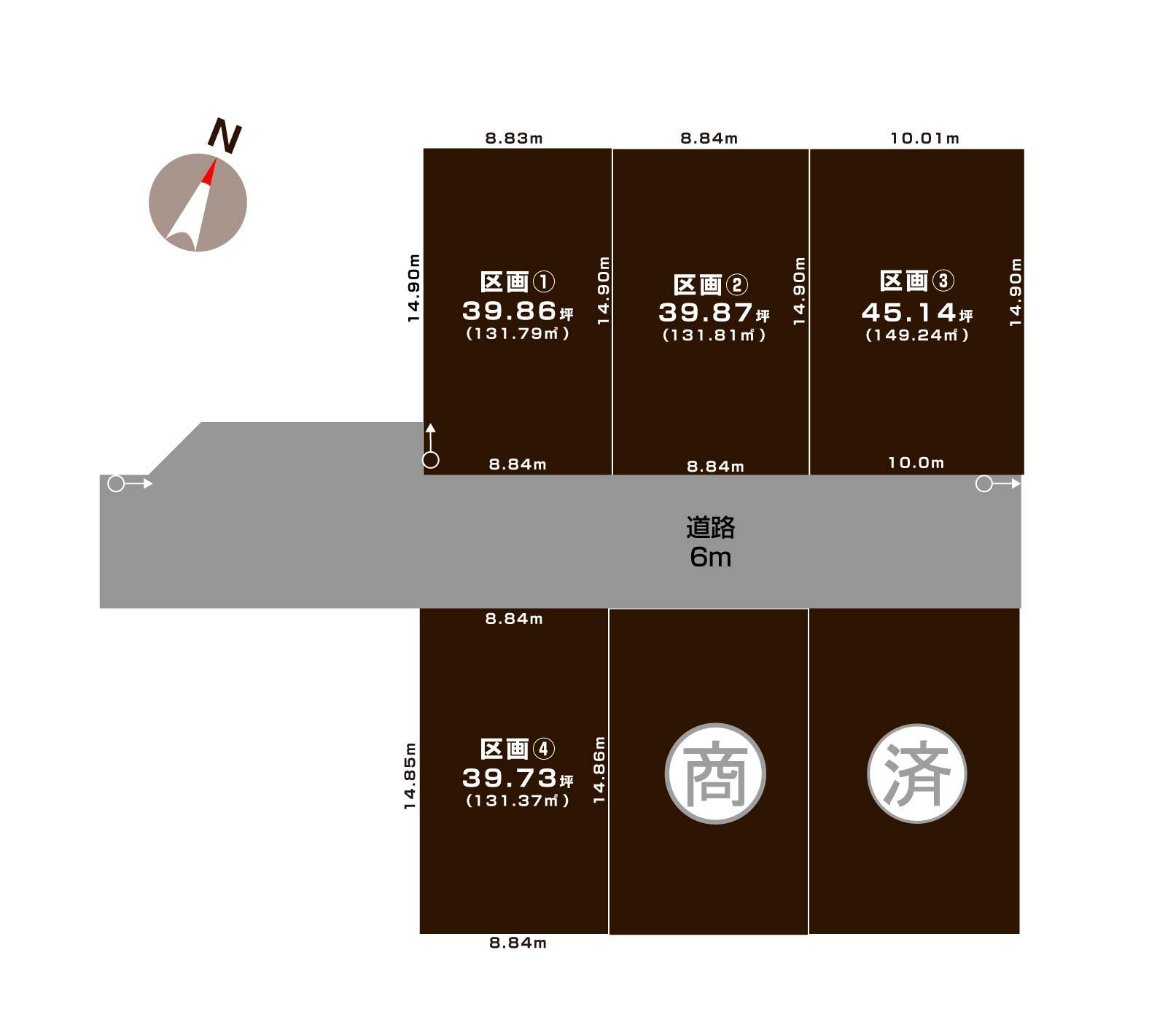 中央区網川原1丁目の土地の敷地図
