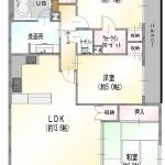 新潟市中央区笹口の【中古マンション《ダイアパレスけやき通り》】の間取図