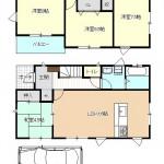 燕市吉田の新築住宅の間取り図