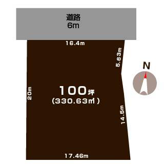 江南区五月町2丁目の土地の敷地図