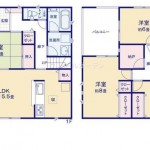 新潟市西区寺尾上の新築住宅の間取図