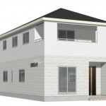 新潟市東区江南の新築住宅1号棟の外観完成予定パース