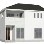 新潟市東区津島屋1号棟の新築住宅の外観パース