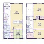新潟市西区小針南の【新築住宅《全2号棟》】不動産情報の1号棟間取図