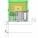 中央区関屋田町3丁目の土地の建物プラン配置図