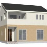 新潟市西区寺尾上の新築住宅の外観完成予定パース