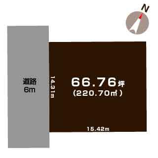 新潟市中央区京王の【土地】不動産情報の敷地図