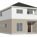 新潟市東区江南の新築住宅2号棟の外観完成予定パース