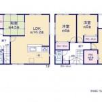 新潟市秋葉区新津緑町の新築住宅【1号棟】の間取図