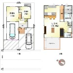 新潟市北区松浜の【中古住宅】不動産情報の間取図