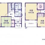 新潟市中央区本馬越1丁目の新築住宅の間取図