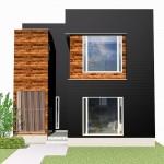 新潟市東区小金台の土地の建物プラン例の外観パース