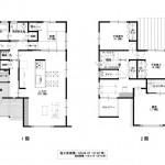 新潟市東区小金台の土地の建物プラン例の間取り図