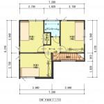 新潟市西区板井の分譲地【区画8】の建物プラン例(2階平面図)