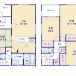 新潟市北区三軒屋町の新築住宅1号棟の間取図