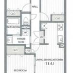新潟市中央区女池3丁目のマンションの間取図