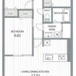 新潟市中央区上近江3丁目のマンションの間取図