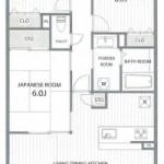 新潟市中央区笹口2丁目のマンションの間取図
