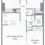 新潟市中央区東幸町のマンションの間取図