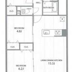 新潟市中央区堀之内南のマンションの間取図