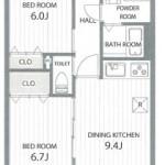 中央区本町通14番町【ダイアパレス本町第3】のマンションの間取図