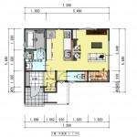新潟市西区板井の分譲地【区画8】の建物プラン例(1階平面図)