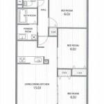 新潟市西区有明町のマンションの間取図