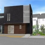 新潟市江南区亀田水道町の建物プラン例:外観パース