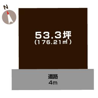 新潟市秋葉区田家の【土地】不動産情報の敷地図