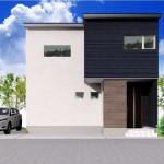 新潟市西区板井の分譲地【区画8】の建物プラン例(外観パース)