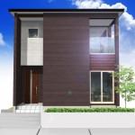 新潟市中央区京王の土地の建物プラン例の外観パース