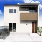 新潟市江南区亀田中島の土地の建物プラン例(区画2)外観パース
