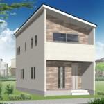新潟市西区小針の【新築住宅】B棟の外観パース