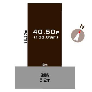 新潟市中央区京王の土地の敷地図