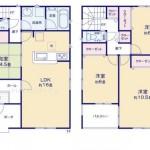 新潟市中央区山二ツの【新築住宅《全2号棟》】不動産情報の1号棟間取図