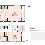 新潟市西区小針の【新築住宅】B棟間取図