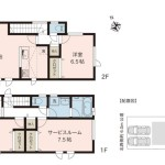 新潟市東区藤見町の【新築住宅】B棟の間取図