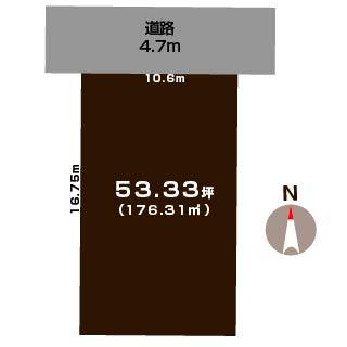 新潟市東区小金台の土地の敷地図