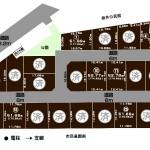 新潟市西区板井の分譲地の全体区画図