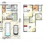 西区小針5丁目【新築住宅A棟】の間取図