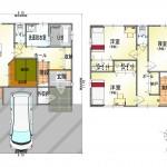 西区小針5丁目【新築住宅B棟】の間取図