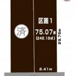 新発田市舟入町の【土地】不動産情報の敷地図