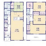 新潟市東区紫竹の新築住宅の間取図