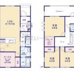新潟市西区大野町の新築住宅の間取図