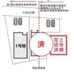 新潟市東区河渡の【新築住宅】の区画図